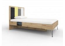 Александрия № 12 (антрацит) Кровать 900 (сп. место: 90х200)