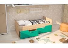 МС Умка (бирюза металлик) Детская кровать (800 х 1600) с ящиками (комплект)