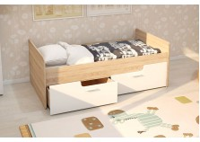 МС Умка (белый глянец) Детская кровать с ящиками (комплект) (сп. место: 80х160)