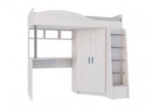 Каприз ЦРК.КПР.02 Кровать-чердак со шкафом и столом