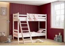 Соня С-10 (белая) Кровать двухъярусная с наклонной лестницей  (два сп. места: 80х190)
