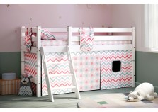 Соня С-12 (белая) Кровать-чердак низкая с наклонной лестницей (сп. место: 80х190)