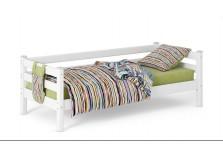 Соня С-2 (белая) Кровать с задней защитой (сп. место: 80х190)