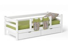 Соня С-4 (белая) Кровать с защитой по центру (сп. место: 80х190)