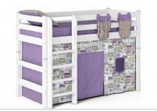 Соня С-5 (белая) Кровать-чердак полувысокая с прямой лестницей (сп. место: 80х190)