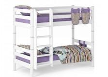 Соня С-9 (белая) Кровать двухъярусная с прямой лестницей (2 сп.места: 80х190)