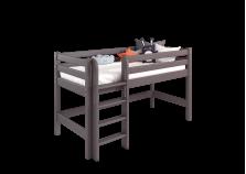 Соня С-11 (лаванда) Кровать-чердак низкая с прямой лестницей (сп. место: 80х190)