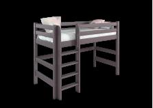 Соня С-5 (лаванда) Кровать-чердак полувысокая с прямой лестницей (сп. место: 80х190)