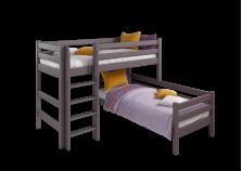 Соня С-7 (лаванда) Кровать угловая двухуровневая с прямой лестницей (два сп. места: 80х190)