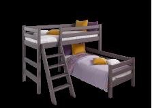 Соня С-8 (лаванда) Кровать угловая двухуровневая с наклонной лестницей (два сп. места: 80х190)