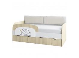 Кот 800.4 Кровать-тахта (80х160), с ящиками для белья