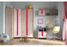 Скаут (фуксия) Комплект мебели для комнаты школьника НАБИРАЕТСЯ ПОЭЛЕМЕНТНО