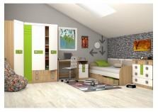 Стиль  (лайм) Комплект мебели для комнаты школьника