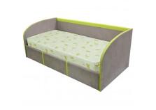 Стиль  900.5 (лайм) Кровать-тахта 900х1900 с коробом для белья и под. осн.