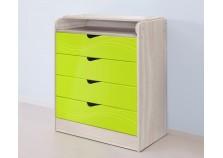 Бриз 6.17 Пеленальный стол 800 (МДФ/лайм/волна)