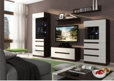 Виго (венге/белый дым) Мебель для гостиной НАБИРАЕТСЯ ПОЭЛЕМЕНТНО