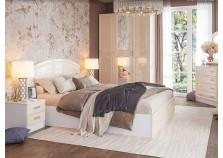 Венеция (жемчуг) Комплект №2 Спальня НАБИРАЕТСЯ ПОЭЛЕМЕНТНО