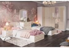Венеция (жемчуг) Комплект №3 Спальня (с 2-мя кроватями) НАБИРАЕТСЯ ПОЭЛЕМЕНТНО