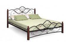 Кованая кровать Милая 140 черная