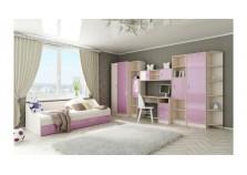 Буратино (розовый) Мебель для Детской (Комплект №3)