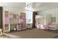 Буратино (розовый) Мебель для Детской (Комплект №1)