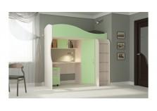 Буратино (зеленый) Кровать-чердак (сп. место: 800х1860)