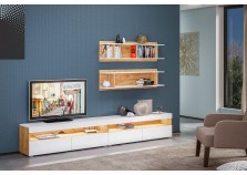 Альба-1 (дуб крафт) Мебель для гостиной НАБИРАЕТСЯ ПОЭЛЕМЕНТНО