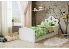 Алиса (белый/ясень ваниль) Кровать детская (сп. место: 80х190)