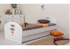 Нордик (белый/ясень ваниль) Кровать детская (сп. место: 80х190)
