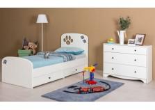 Томас (белый/ясень ваниль) Мебель для Детской (Комплект)