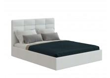 Соната (белый кожзам) Мягкая кровать 1400 б/осн. (сп.место: 140х200)