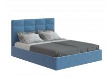 Соната (велюр happy 792) Мягкая кровать 1600 б/осн. (сп. место: 160х200)
