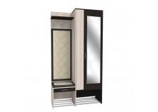 Ольга 4 Прихожая Секция центральная (крючки, шкаф с зеркалом, обувница с ящиком)