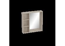 Фан (дуб/мокко) Полка с зеркалом 800 (универсальная)