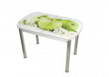 Диамант Классик М 24 (белый/зеленое яблоко) Стол раздвижной
