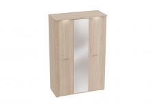 Элана (дуб сонома) Шкаф 3-х дверный с зеркалом (гл.645)