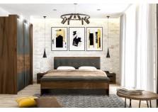 Глазго (таксония/графит) Спальня Комплект №2