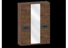 Глазго (таксония/графит) Шкаф 3-дверный