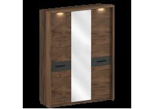 Глазго (таксония/графит) Шкаф 3-дверный с Обрамлением
