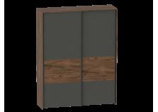 Глазго (таксония/графит) Шкаф-купе (2 двери)
