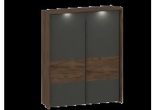 Глазго (таксония/графит) Шкаф-купе (2 двери) с Обрамлением