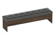 Глазго (таксония/графит) Скамья 1400 (мягкая сидушка