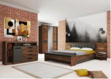 Глазго (таксония/графит) Спальня Комплект №1