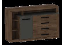 Глазго (таксония/графит) Тумба-комод с 1 дверцей и 4 ящиками
