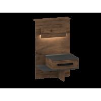 Глазго (таксония/графит) Тумба прикроватная с 1 ящиком