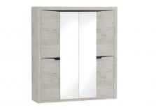 Соренто (дуб бонифаций) Шкаф 4-дверный (гл. 545)