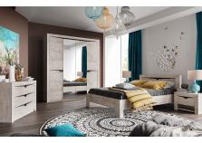 Соренто (дуб бонифаций)  Комплект мебели для спальни, НАБИРАЕТСЯ ПОЭЛЕМЕНТНО