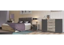 Венеция Вар2 (серый/графит) Мебель для спальни НАБИРАЕТСЯ ПОЭЛЕМЕНТНО