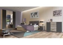Венеция (серый/графит) Комплект №1 Мебель для спальни НАБИРАЕТСЯ ПОЭЛЕМЕНТНО