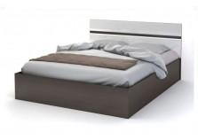 Вегас (венге/белый) Кровать-1600 с осн. (сп. место: 160х200)
